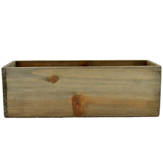 Rectangular Wooden Planter Box Etsy
