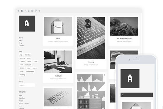 Althea / red cartera y fotografía WordPress Theme & tienda eCommerce ...