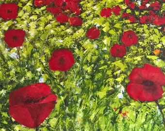 1997 Field of Poppies Painting