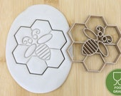 Bee beehive clipart honey spoon honey glass biscuit stamp cookie cutter cookie cookie cookie cookie cookie cutter fondant approx.8 cm
