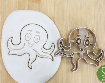 Sea animal Octopus Turtle Fish Crab Seahorse Biscuit stamp / cookie cutter Cookie cutter Fondant ca.8 cm