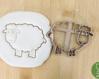Sheep/Baby Sheep Biscuit stamp / cookie cutter Cookie cutter Cookie cutter Fondant ca.8 cm