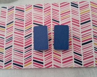 Royal blue statement stud earrings