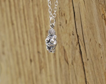 Womens Venus of Willendorf Pendant Chain Necklace 18 Inch 20 Inch 22 Inch 24 Inch Silver-Plated Tribal Jewelry Pagan Religious 3D Goddess