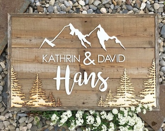 Personalized Family Name Sign (17x25)