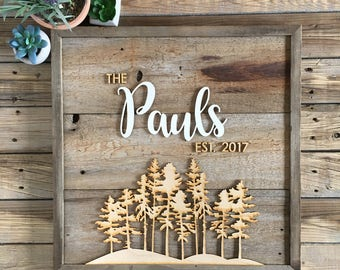 Square Personalized Family Sign (17x17)