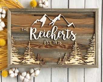 Personalized Family Name Sign (12x17)