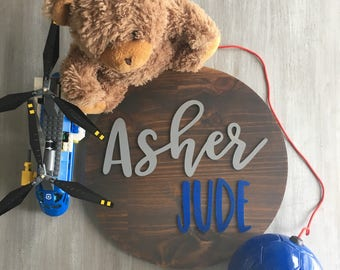 Round Personalized Name Sign