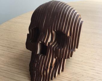 Jose Calavera Hand Carved Wood Skull