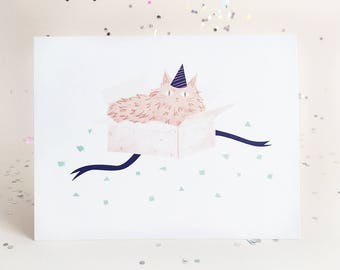 Party Cats - Pink Cat Card