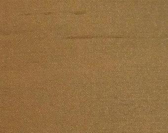Fawn Beige Hand Woven 100/% Silk Dupioni-Heavy Slubs