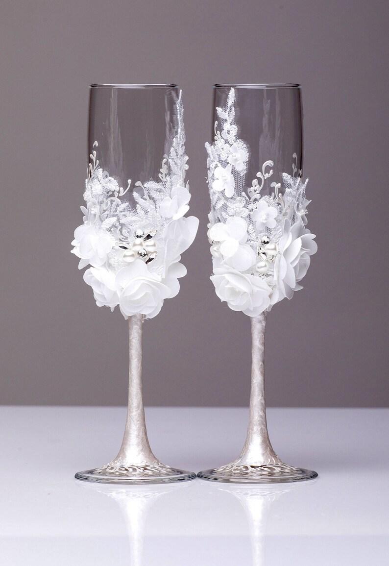 Personalized Wedding glasses and Cake Server Set cake cutter boho wedding toasting flutes rustic wedding flutes and cake rustic set of 4