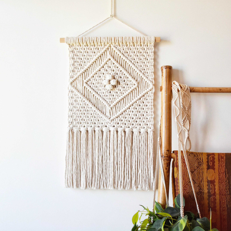 Macrame Wall Hanging Pattern Diamond How To Tutorial Diy
