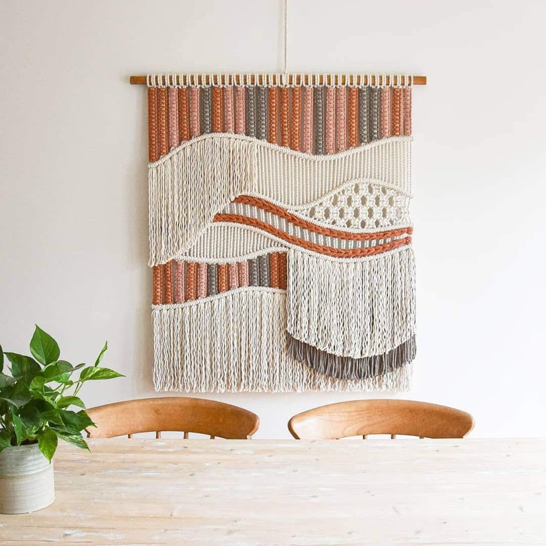 Etsy Design Awards finalist 2021 macrame wall hanging woven image 0