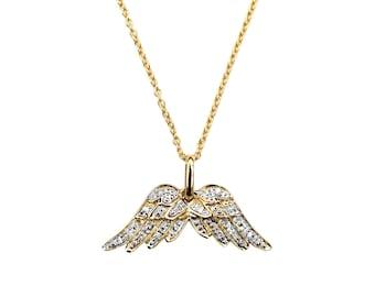Guardian Angel Diamond Double Angel Wing