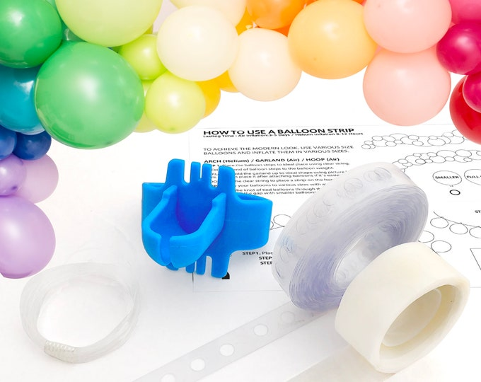 Featured listing image: Balloon Garland Arch Kit - Decorating Strip, Reusable 16ft/5m Balloon Tape, Balloon Tying Tool, 100 x Dot Glue, Clear Handing String