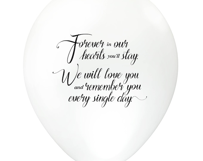 Featured listing image: White Remembrance Funeral Biodegradable Balloons with Helium Foil for Balloon Releases – Memorial Event