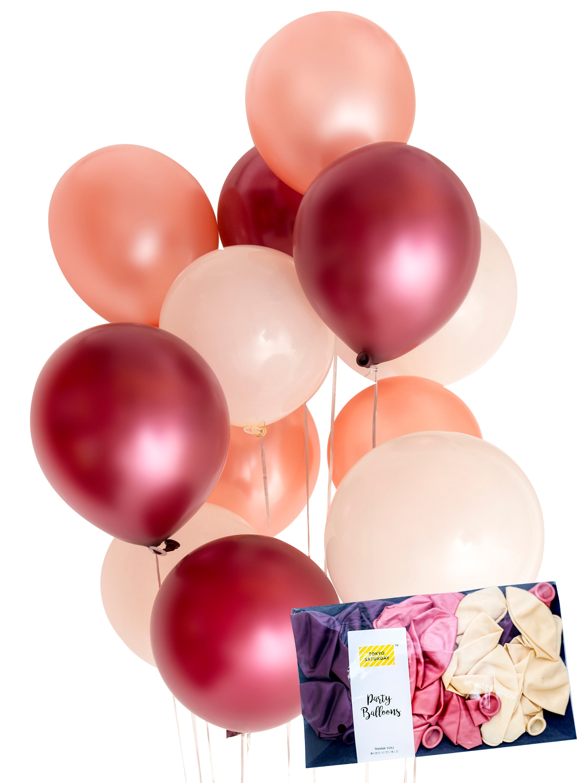 Only US Burgundy Rose Gold Balloon - Celebration, Engagement ...