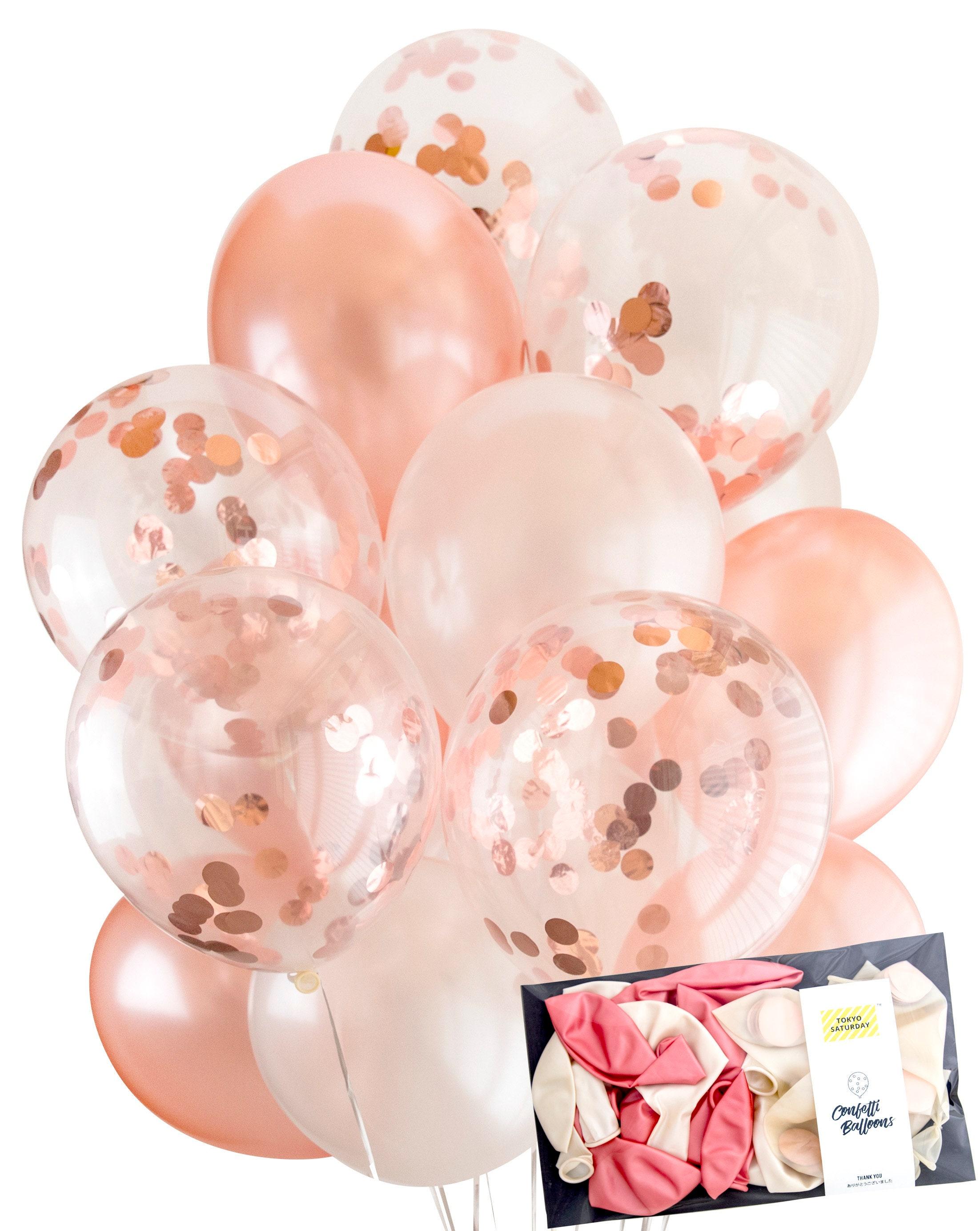 Rose Gold Confetti Balloon - Wedding, Engagement, Hen, Birthday ...