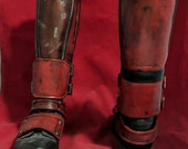 Deadpool 2 shin guards and boot armor movie inspired
