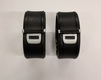 Screen accurate Deadpool Movie inspired wrist cuffs with magnetic closure (pair)