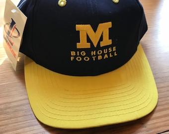 eb0409e71543c Vtg. 90 s Michigan Wolverines Snapback Hat. Deadstock. Big House BNWT Logo  Athletic