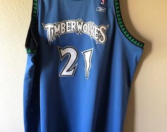 3ce50f759e8 Vintage Reebok Kevin Garnett Swingman Jersey All sewn. Sz 3XL Length +2. Minnesota  Timberwolves