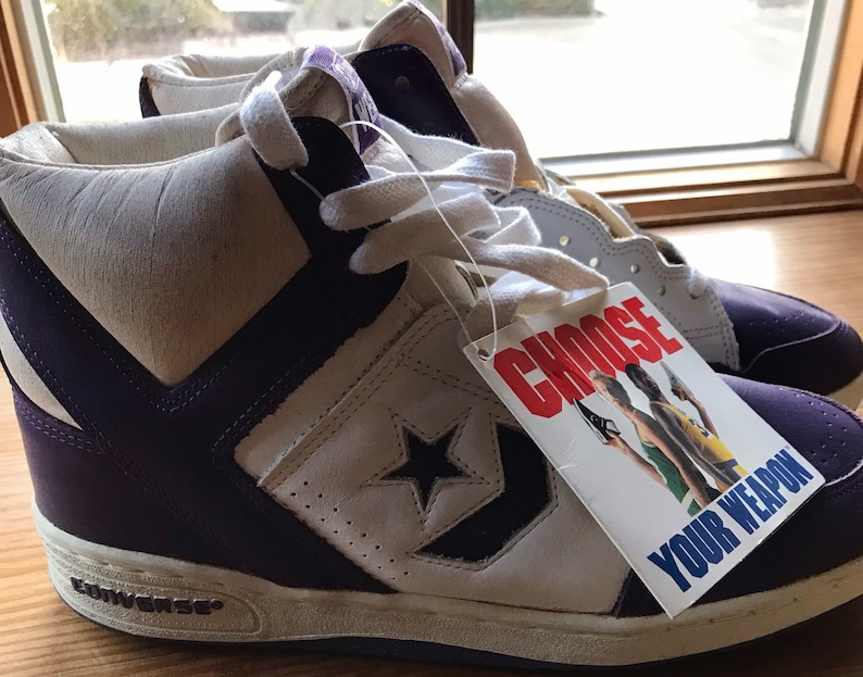 9db174adf94 Vintage 80 s Converse Weapon basketball Shoes Sz. 9. 1986