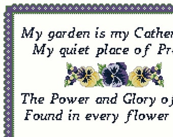 "GLORY and POWER SAMPLER Cross Stitch Pattern (approx. 10"" x 7.5"")(Color Key & Chart)"