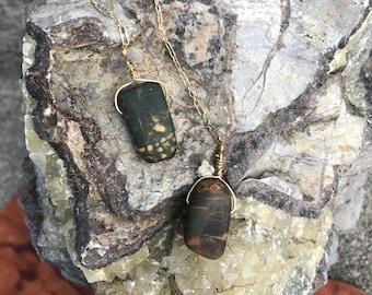 Jasper Chain Earrings