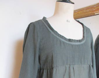 80696cf0df81d Tunic woman in cotton voile shirt 3 4 sleeves 3 4 sleeve