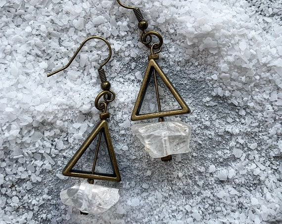 Crystal Triangle Earrings