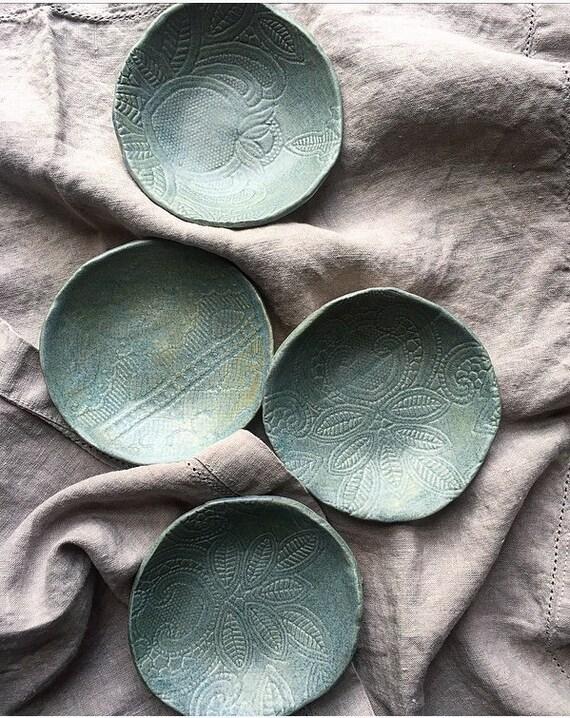 Blue Frost Lace Bowls S