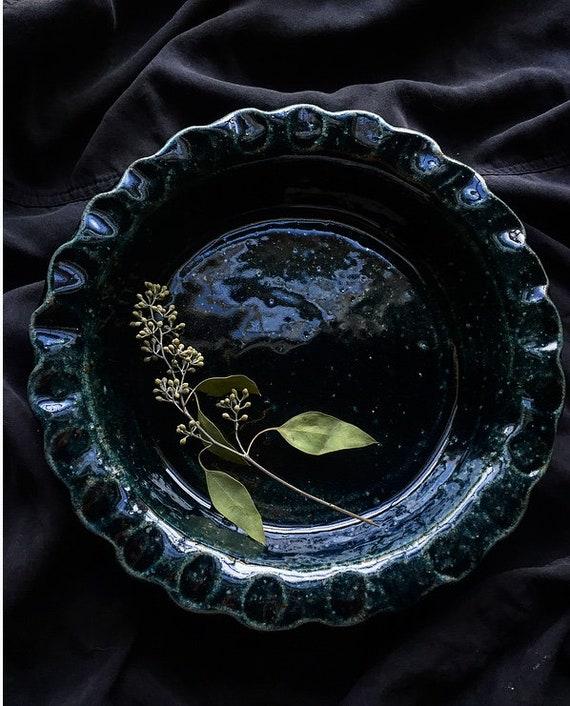 Deep Forest Green Pie Dish