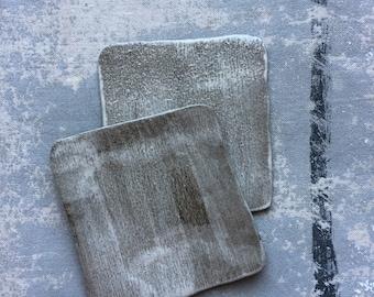 Glacier White Square Appetizer Plates