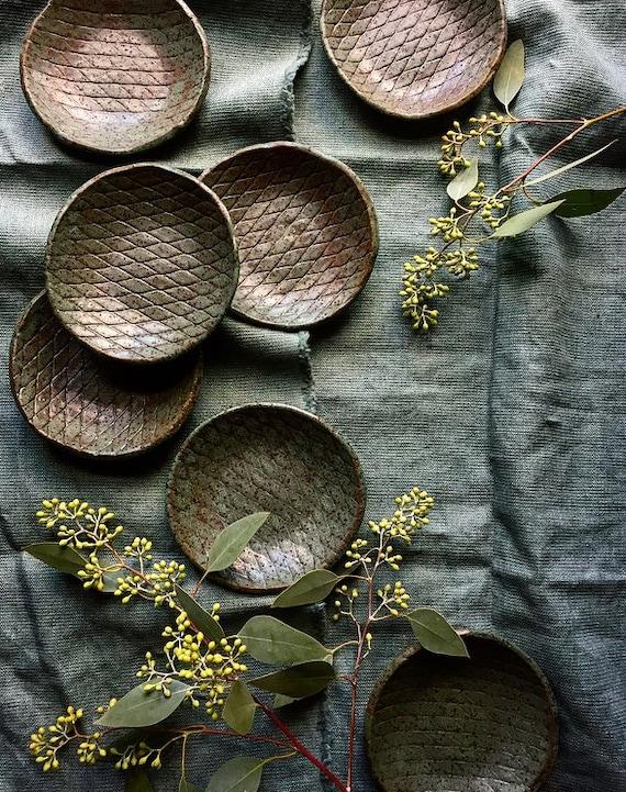 Fall Breeze Shallow Bowls / Ring Dish