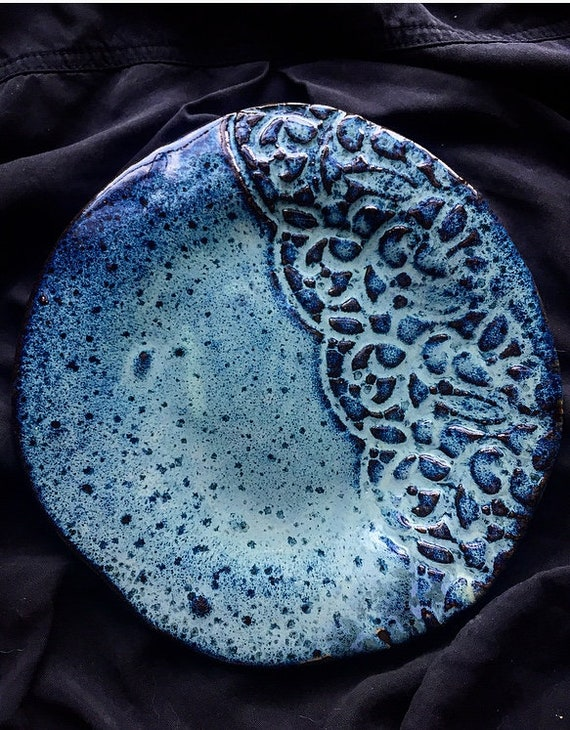 Speckled Blue Lace Plate