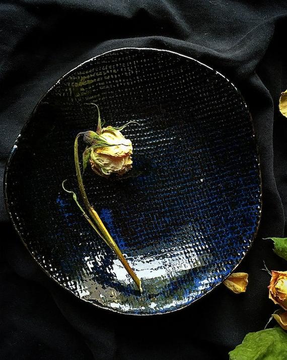 Blue Slate Linen Bowl