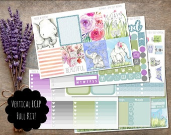 Elephant Weekly Planner Sticker Kit / Vertical ECLP