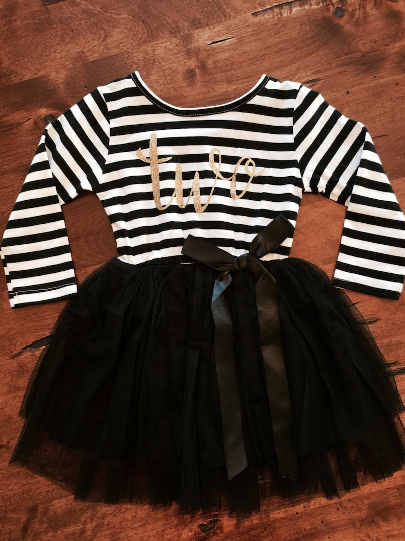 e3330d12e4a Second birthday outfit 2nd birthday dress black tutu dress