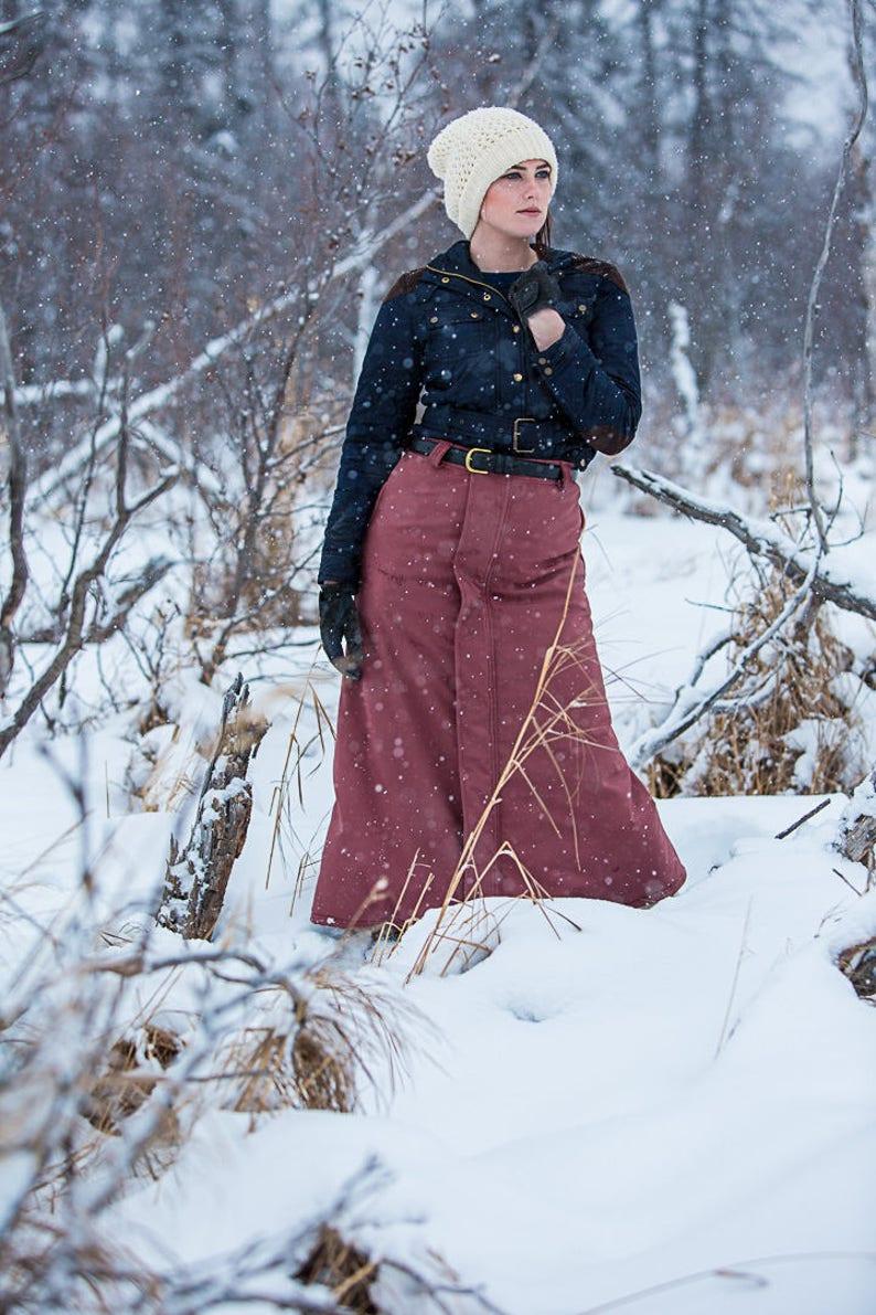 b8b6dece8 Winter Riding Skirt Insulated Waterproof Equestrian Outerwear   Etsy