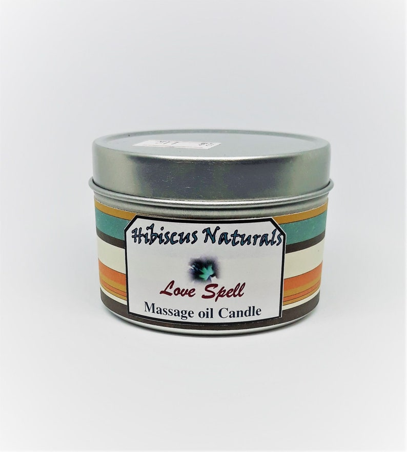 Aromatherapy Massage Oil Candles Love Spell