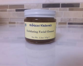All-Natural exfoliating facial cleanser