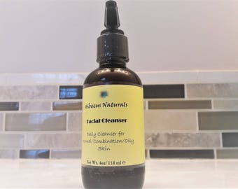 All-Natural daily facial cleanser for normal, combination and oily skin.