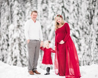 Maternity Dress for Photo Shoot-Long Maternity Dress-Fitted Maternity Gown-Maxi Gown-Maternity Dress for Baby Shower-FLOY DRESS