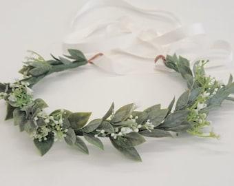 Baby s Breath Flower Crown-Bridal Flower Crown-Bridesmaid Flower Crown- Flower Girl Crown-Flower Crown-Flower Crown Girl-Olivia Flower Crown 96ce2688d2f