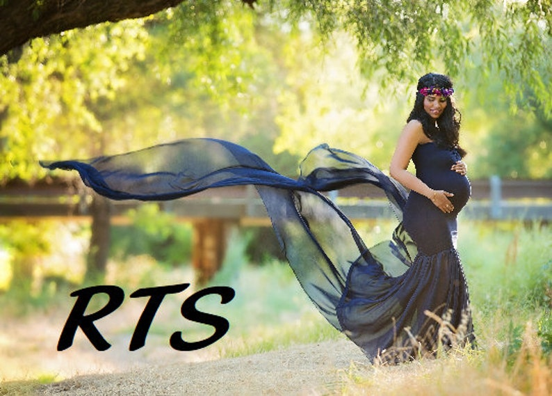 5f424b853c8fb Ready to Ship Maternity Gown for Photo Shoot-Long Maternity | Etsy