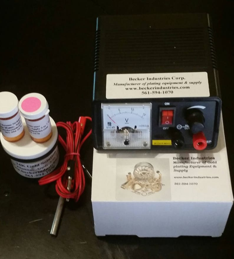 24kt Gold/Chrome/silver/Rhodium, Gold Plating Kit, Electroplating Kit