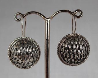 Modern Braided Sterling Silver Earrings