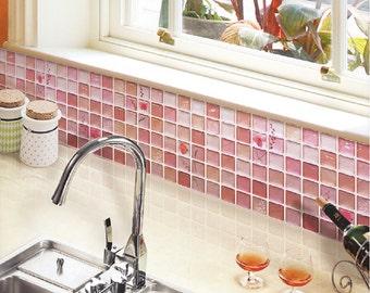 Huis interieur decoratie wand decor mozaïek sticker badkamer etsy
